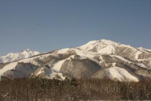 白馬大橋からの八方尾根スキー場